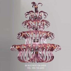 Casandra 640165/30+22+16+10+3, Luxury Blown Glass Chandelier from Iris Crystal