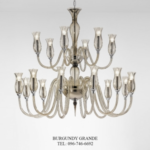 1020/12+6, Luxury Classic Blown Grass Chandelier from Italy