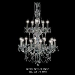 Victorian 10+5 BLACK/CHROME, Luxury Classic CrystalChandelierfrom Spain