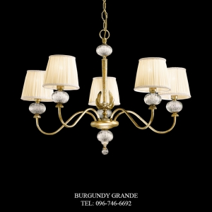 L 13751/5 CP, Luxury Chandelier from Italy
