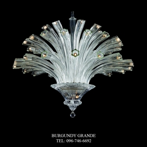 Da vinci 640186/12+8+4, Luxury Blown Glass Chandelier from Iris Crystal
