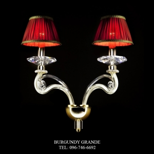 A 14330/2L, Luxury Glass Wall Lamp from RDV