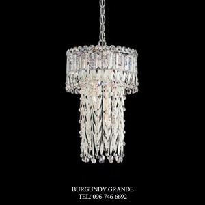 Triandra LR1008, Luxury Crystal Hanging Lamp from Schonbek, America