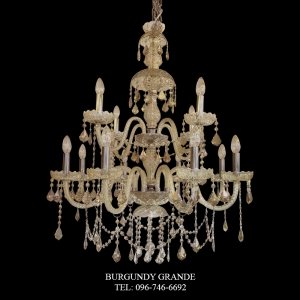 165/8+4 Teak, Luxury Classic Crystal Chandelier from Italy