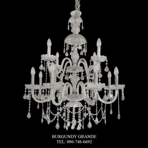165/8+4 Clear, Luxury Classic Crystal Chandelier from Italy