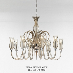 1022/8, Luxury Blown Glass Chandelier from Italy