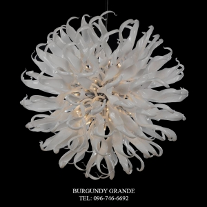Apolo 640174/106, Luxury Blown Glass Chandelier from Iris Crystal