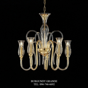 1022/5, Luxury Blown Glass Chandelier from Italy