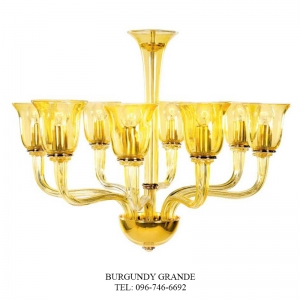 Aitana, Luxury Blown Glass Chandelier from Iris Crystal