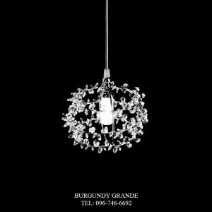 SP 14218/1, Luxury Crystal Hanging Lamp from Italy