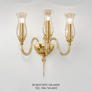 1020/A3, Luxury Blown Glass Wall lamp from Italy