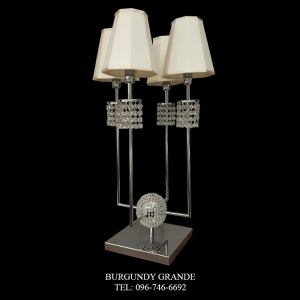 T900/LT, Luxury Contemporary Crystal Table Lamp from Italy