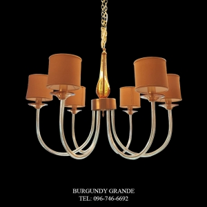 383/6, Luxury Classic Blown Grass Chandelier from Italy