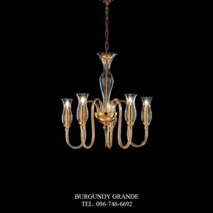 1020/5, Luxury Blown Glass Chandelier from Italy