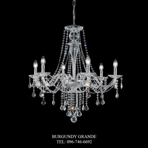 654/6 CR, Luxury Crystal Chandelier from Italy