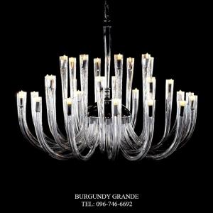 Berna 640136/16+8+8, Luxury Blown Glass Chandelier from Iris Crystal