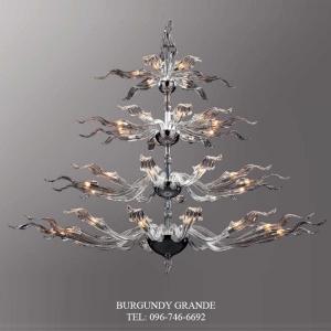 Delphy 640160/18+12+10+6, Luxury Blown Glass Chandelier from Iris Crystal