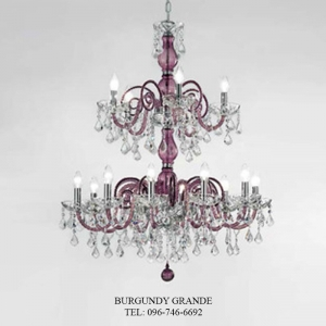 949/10 + 5, Luxury Blown Glass Chandelier from Sylcom
