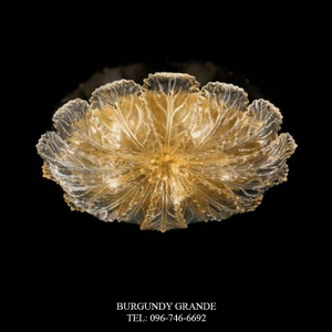 918/80, Luxury Blown Glass Ceiling Lamp from Sylcom