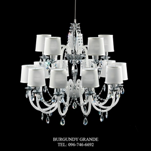 445/8+4 WHITE, Luxury Classic Blown Grass Chandelier from Italy