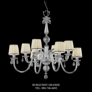 440/4+4, Luxury Classic Blown Grass Chandelier from Italy