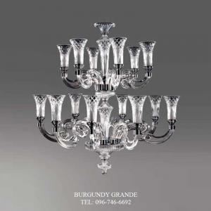 Viana 630130/8+6, Luxury Blown Glass Chandelier from Iris Crystal
