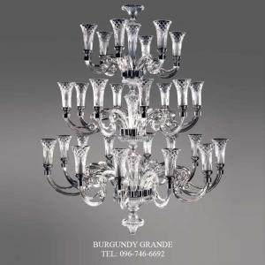 Viana 630130/12+8+6, Luxury Blown Glass Chandelier from Iris Crystal