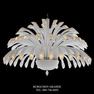 Da vinci 640186/32+24+16+8, Luxury Blown Glass Chandelier from Iris Crystal
