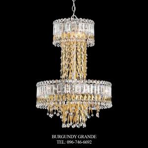 Triandra LR1010N, Luxury Crystal Ceiling Lamp from Schonbek, America